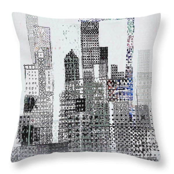 Blip 2  Throw Pillow by Andy  Mercer