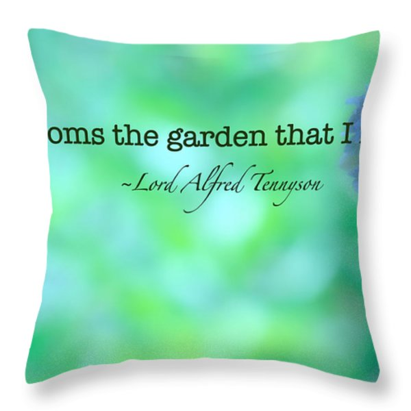 Blooms The Garden Throw Pillow by Bonnie Bruno
