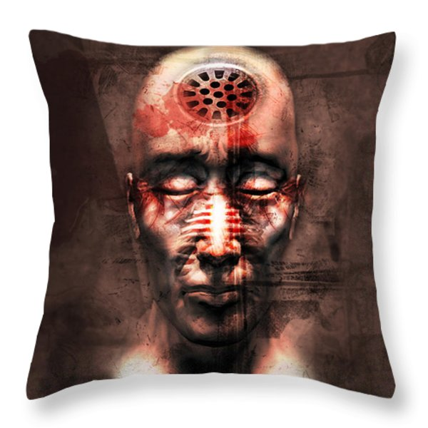 Brainwashed Throw Pillow by Robert  Adelman