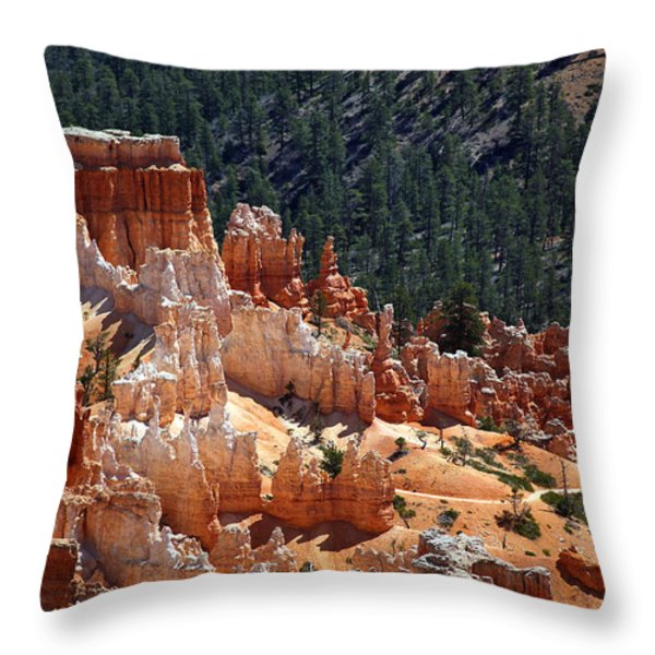 Bryce Canyon  Throw Pillow by Jane Rix