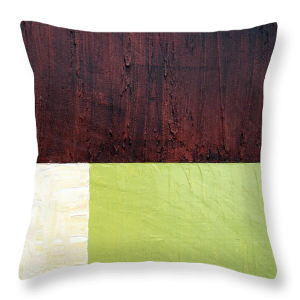 Burgundy Cream Pickle Throw Pillow by Michelle Calkins