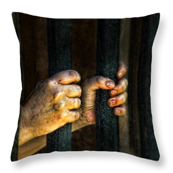 Caged 2 Throw Pillow by Jill Battaglia