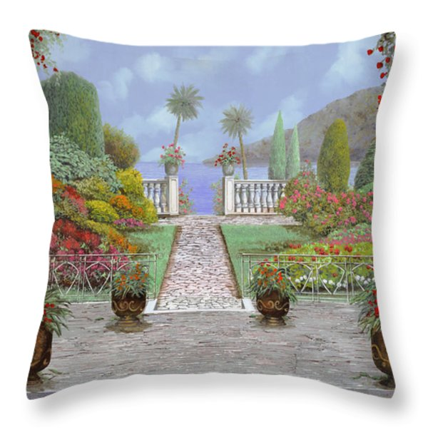 Camminando Verso Il Lago Throw Pillow by Guido Borelli