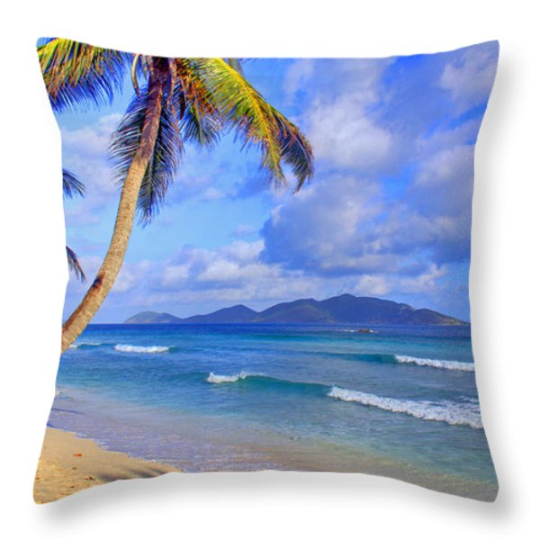 Caribbean Paradise Throw Pillow by Scott Mahon