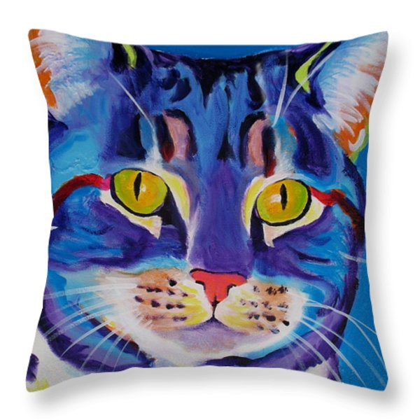 Cat - Lady Spirit Throw Pillow by Alicia VanNoy Call