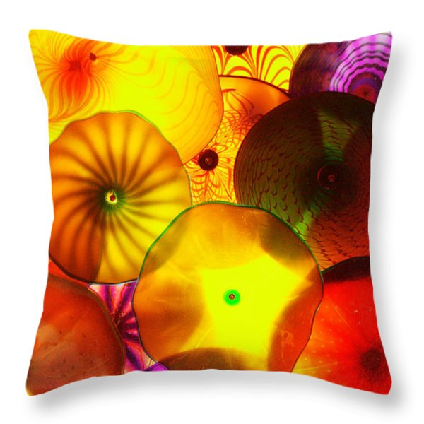 Celestial Glass 4 Throw Pillow by Xueling Zou