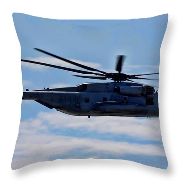 Ch-53d Sea Stallion - 2 Throw Pillow by Tommy Anderson