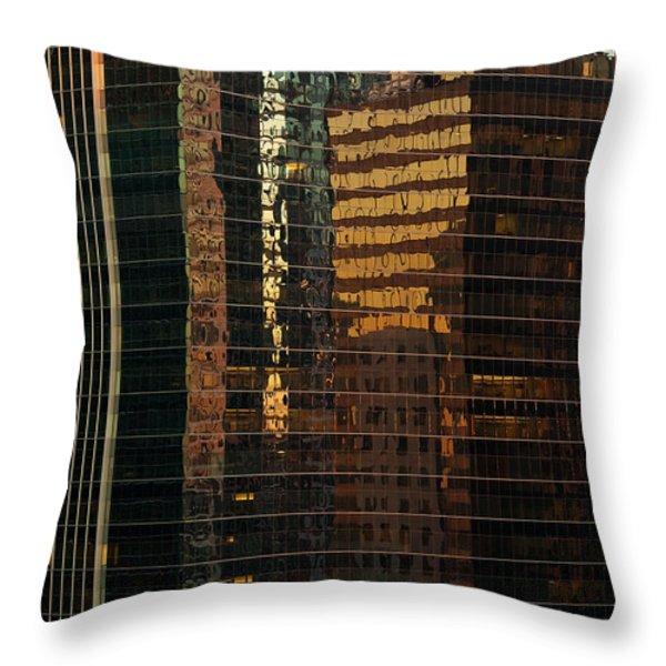Chicago Reflected Throw Pillow by Steve Gadomski