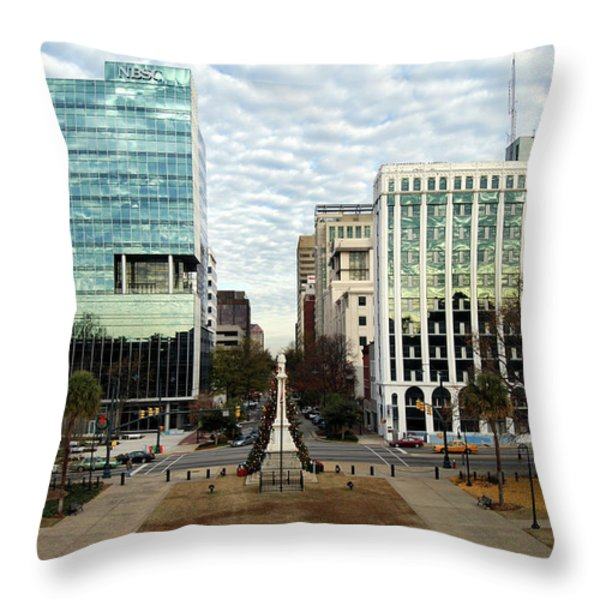 Christmas In Columbia Sc Throw Pillow by Skip Willits