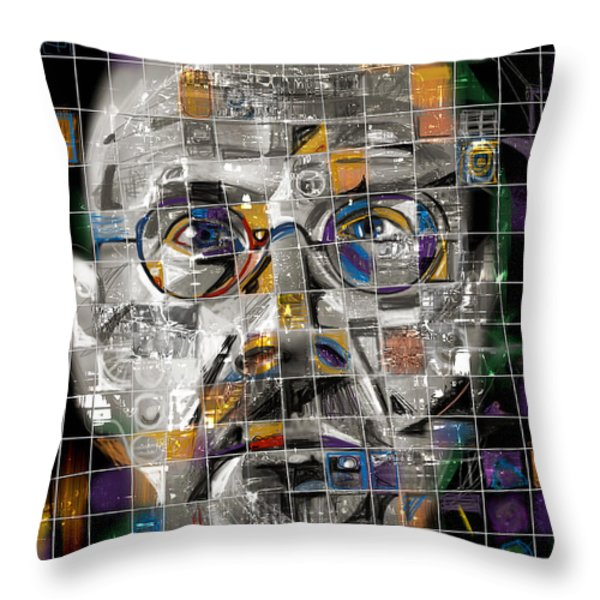 Chuck Close Throw Pillow by Russell Pierce