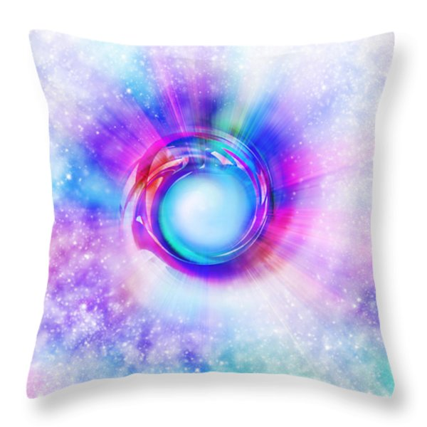 Circle Eye  Throw Pillow by Setsiri Silapasuwanchai
