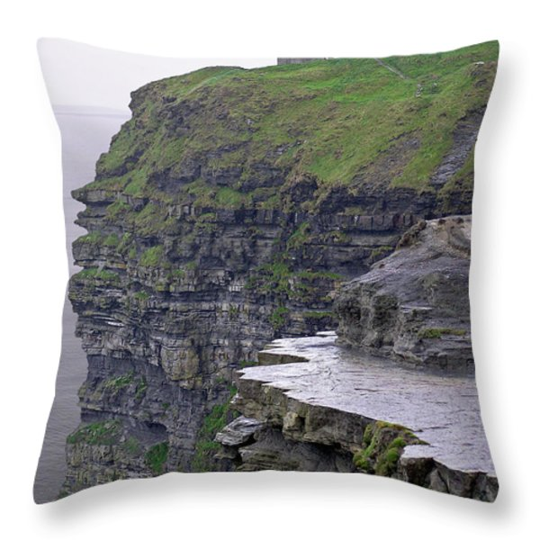 Cliffs Of Moher Ireland Throw Pillow by Charles Harden