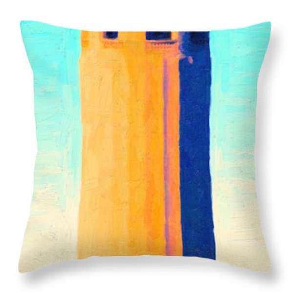 Coit Tower San Francisco Throw Pillow by Wingsdomain Art and Photography