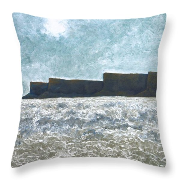 Cold Weather Throw Pillow by Kerry Beverly