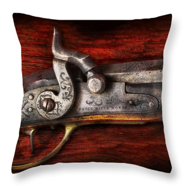 Collector - Gun - Rifle Works Throw Pillow by Mike Savad