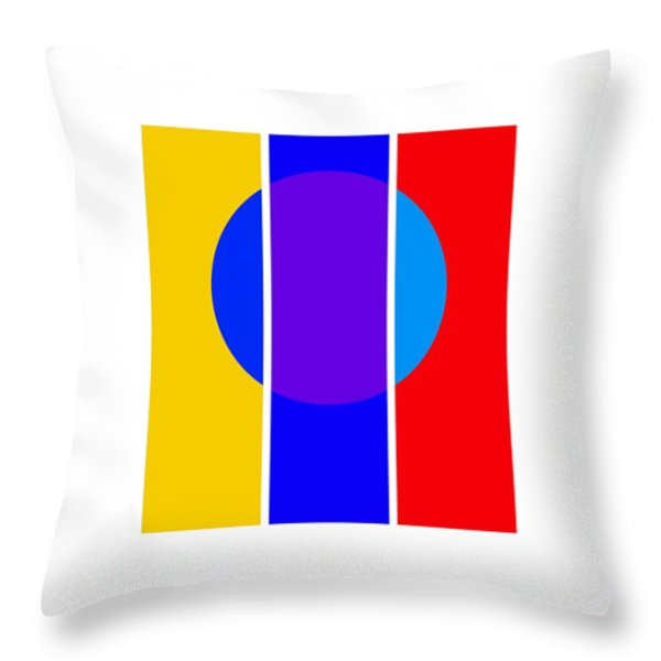 Color And Form Throw Pillow by Charles Stuart