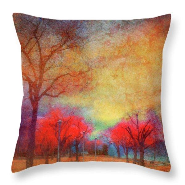 Colour Burst Throw Pillow by Tara Turner
