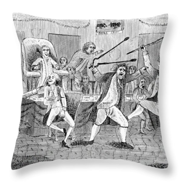 Congressional Pugilists Throw Pillow by Granger