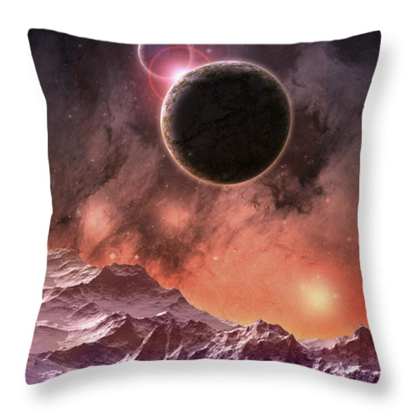 Cosmic Range Throw Pillow by Phil Perkins