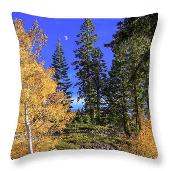 Crater Moon Throw Pillow by James Eddy