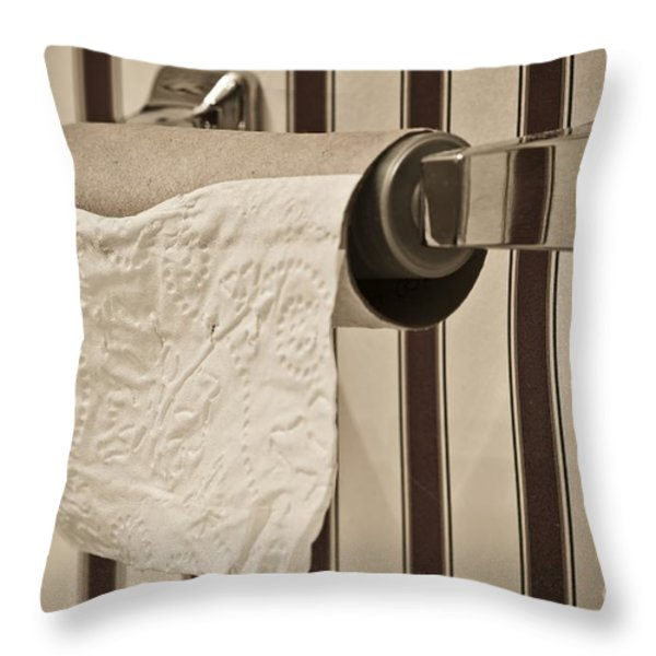 Critical Thinking Throw Pillow by Charles Dobbs