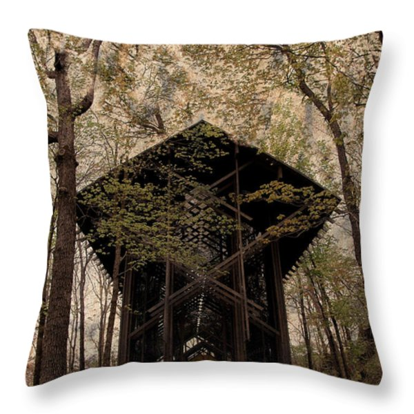 Crown Of Thorns Chapel Throw Pillow by Kathleen Struckle