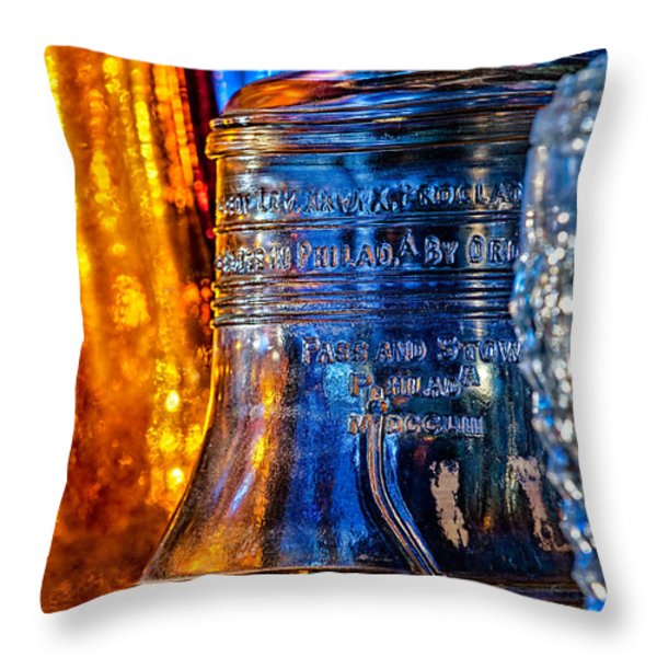 Crystal Liberty Bell Throw Pillow by Christopher Holmes