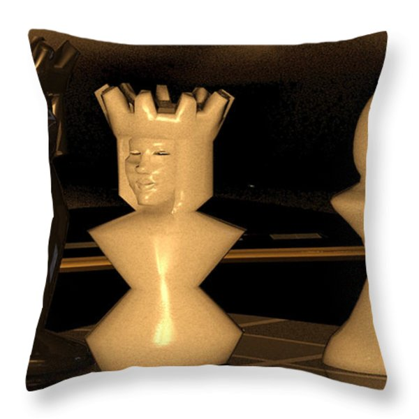 Damianos Bishop Mate Throw Pillow by James Barnes