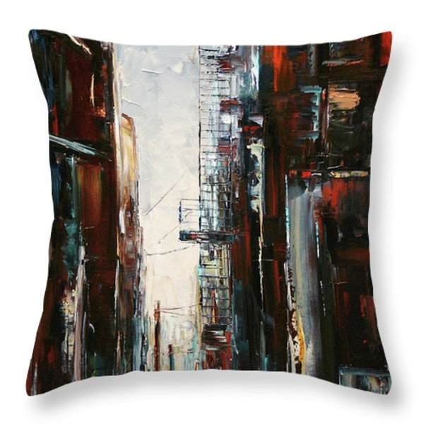 Damp And Cold Throw Pillow by Debra Hurd