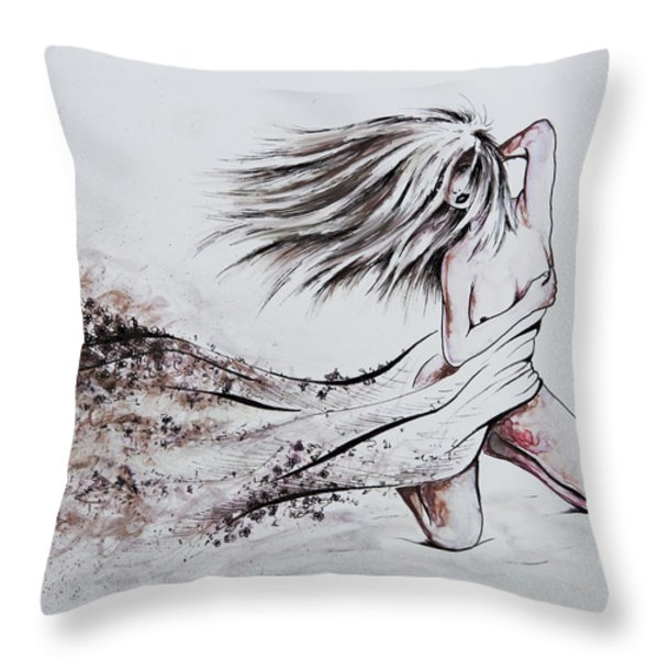 Daughter Of Eve Throw Pillow by Rachel Christine Nowicki