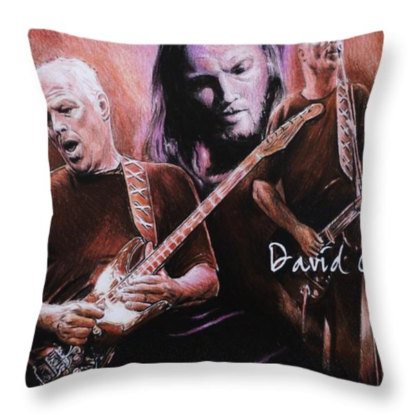 David Gilmore Throw Pillow by Andrew Read