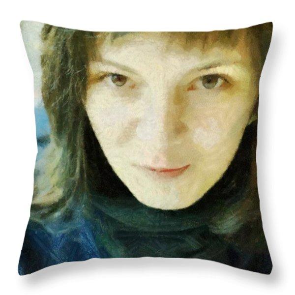 Demure Throw Pillow by Jeff Kolker