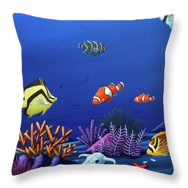 Desert Dolphins Very Close Throw Pillow by Lance Headlee