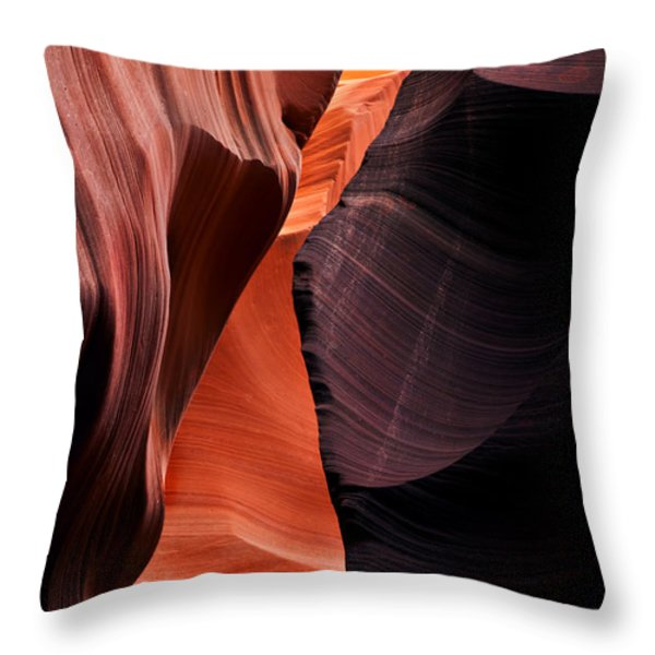 Desert Split Throw Pillow by Mike  Dawson