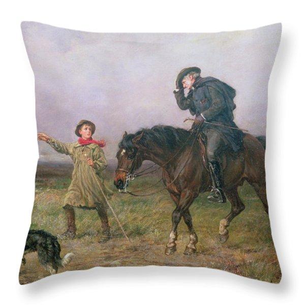 Duty Throw Pillow by Heywood Hardy