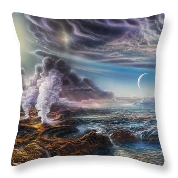 Early Earth Throw Pillow by Don Dixon