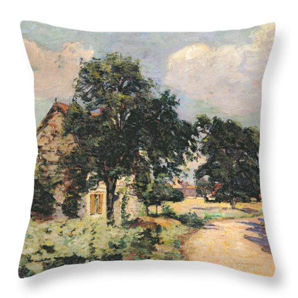 Effect Of The Sun Throw Pillow by Jean Baptiste Armand Guillaumin
