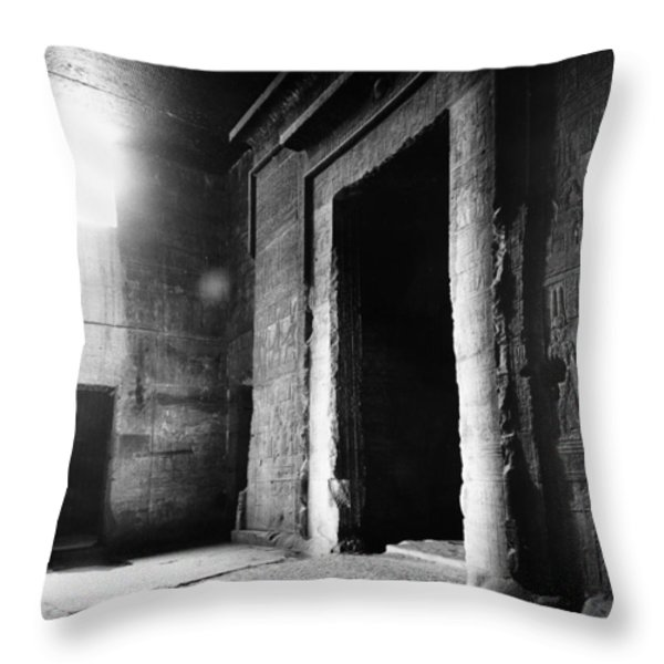 Egypt: Dendera: Temple Throw Pillow by Granger