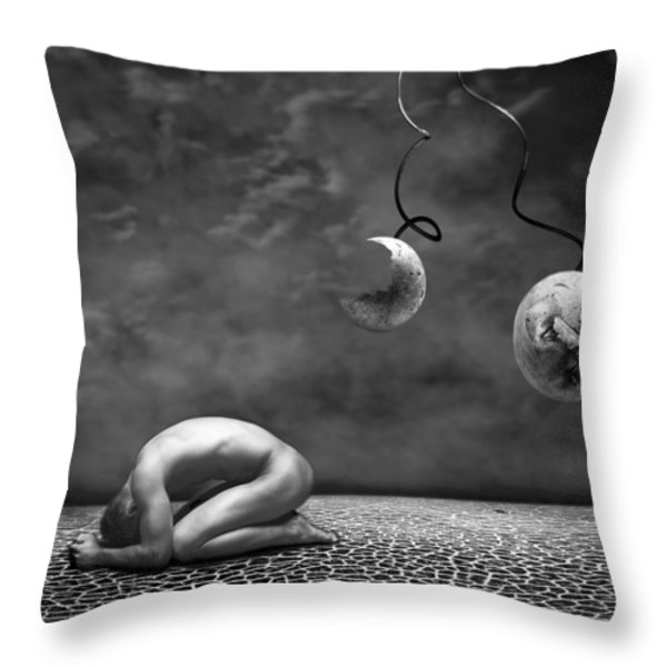 Emptiness II Throw Pillow by Photodream Art
