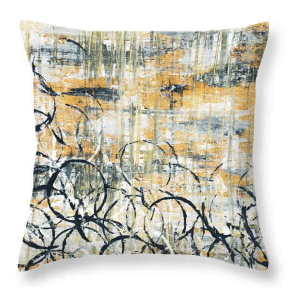 Falls Design 3 Throw Pillow by Megan Duncanson