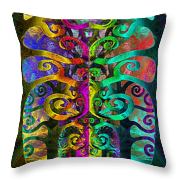 Family United Throw Pillow by Angelina Vick