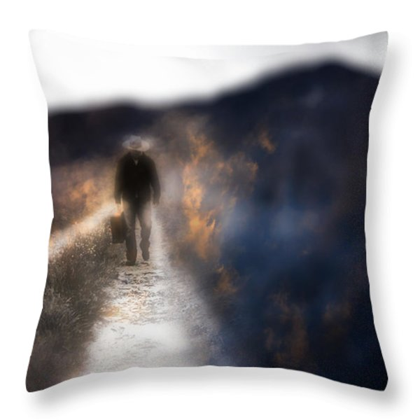 Fire Road Throw Pillow by Gray  Artus
