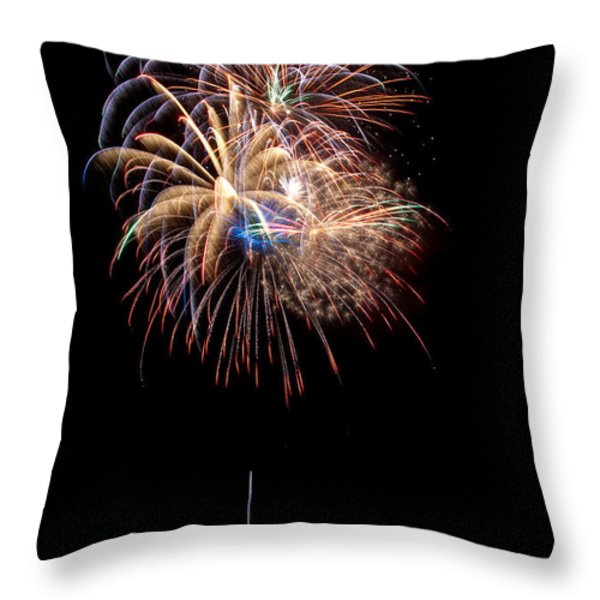 Fireworks IIi Throw Pillow by Christopher Holmes