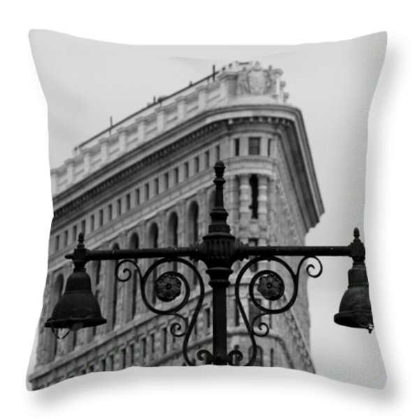 Flatiron Building New York Throw Pillow by Andrew Fare