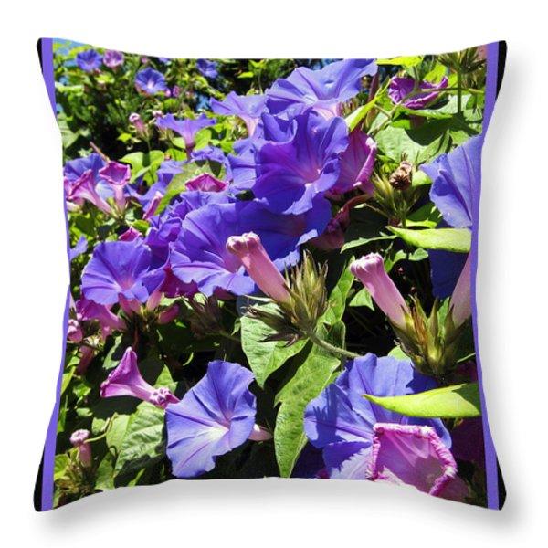 Floral Tango Throw Pillow by Kurt Van Wagner