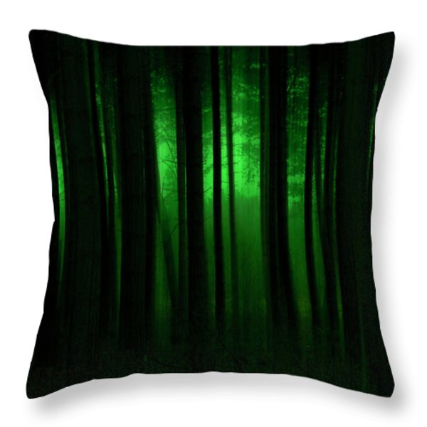 Forest Abstract03 Throw Pillow by Svetlana Sewell