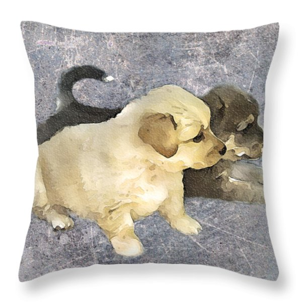 Friends Forever  Throw Pillow by Svetlana Sewell