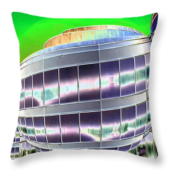 Future Office Space Throw Pillow by Carol Groenen