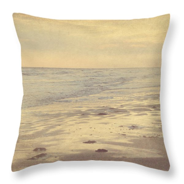 Galveston Island Sunset Seascape Photo Throw Pillow by Svetlana Novikova