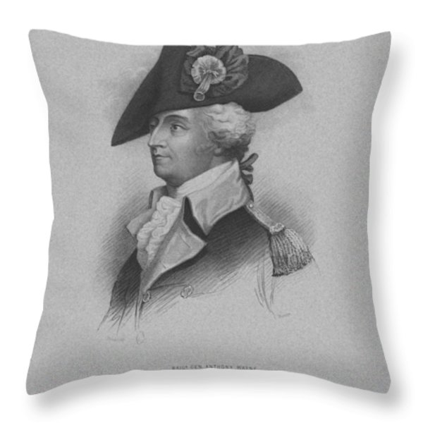 General Anthony Wayne Throw Pillow by War Is Hell Store